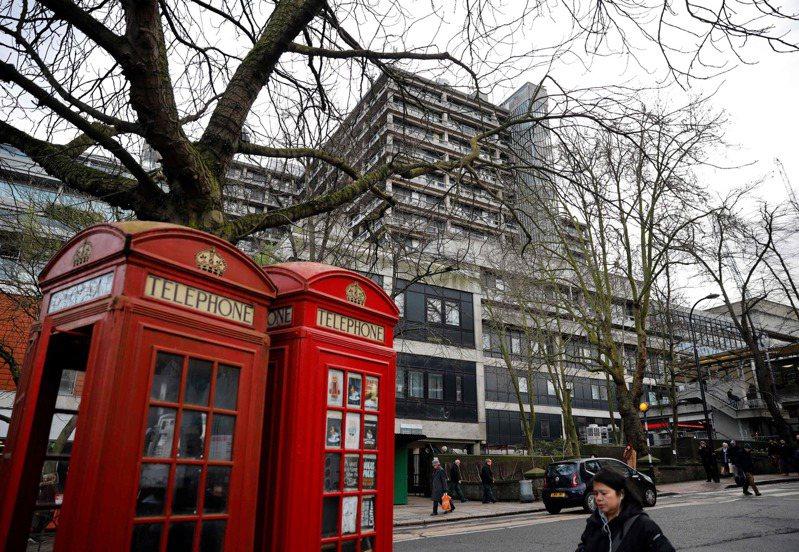 英國倫敦出現第一個新冠肺炎(武漢肺炎)確認病例,是英國的第九例。圖為位於倫敦的皇家慈善醫院,目前收治數名武漢肺炎病患。法新社
