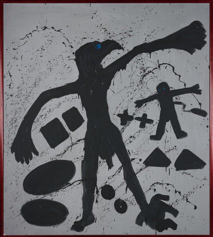 A.R. Penck的作品《鷹之地 I Welt des Adlers I》首次...