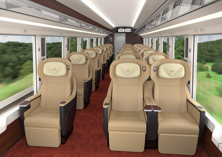 高級車廂設置有電動可調式背殼型座椅。圖/近鐵提供
