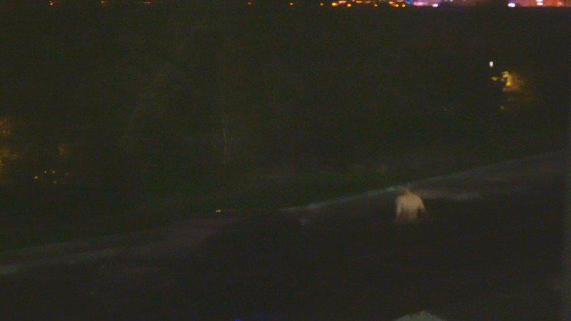 一名男子12日晚間跑到新竹河濱公園、東西向快速道路台68線下的汽車停車格全身赤裸閒晃。記者王駿杰/翻攝自臉書社團新竹爆料公社