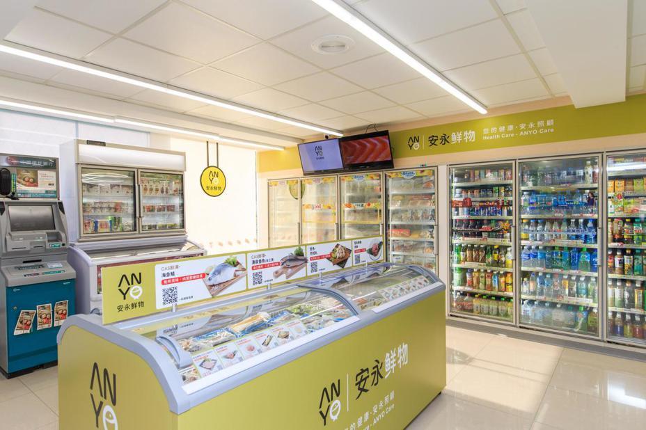 7-ELEVEN冷凍旗艦店,擴大冷凍品項與生鮮結構,為國內便利商店首創將海島型冷凍冰箱搬進門市。 圖/7-ELEVEN提供