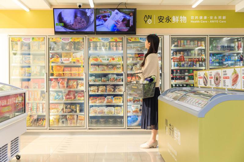 7-ELEVEN冷凍生鮮旗艦店規畫6大區域,整體品項高達150種以上。圖/7-ELEVEN提供