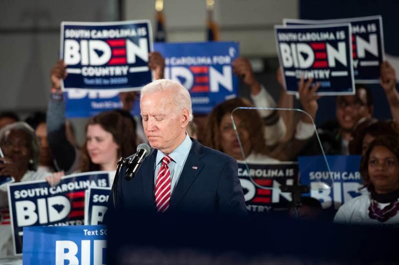 美國前副總統拜登11日在南卡羅萊納州造勢。法新社