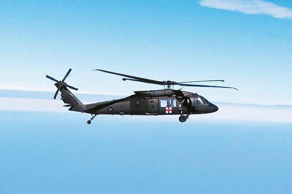 失事墜毀的933號UH-60M直升機。報系資料照片