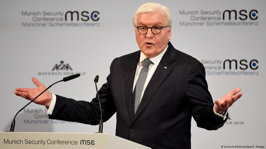 德國總統史坦麥爾周五(2月14日)在慕尼黑國際安全會議上所作的開幕演說中指責美國、中國和俄羅斯,通過其自私自利行為,危及國際秩序。圖/德國之聲中文網