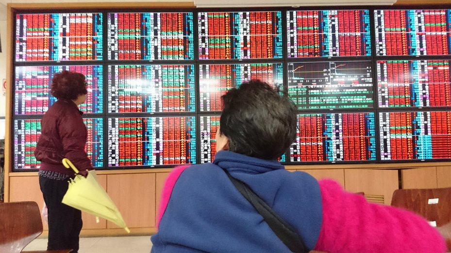 台股本週漲逾200點  電子零組件漲最多。示意圖/聯合報系資料照