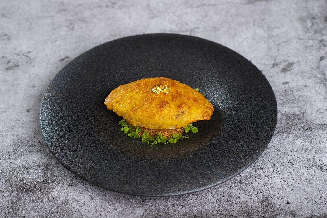 香格里拉台北遠東香宮-焗釀鮮蟹蓋。