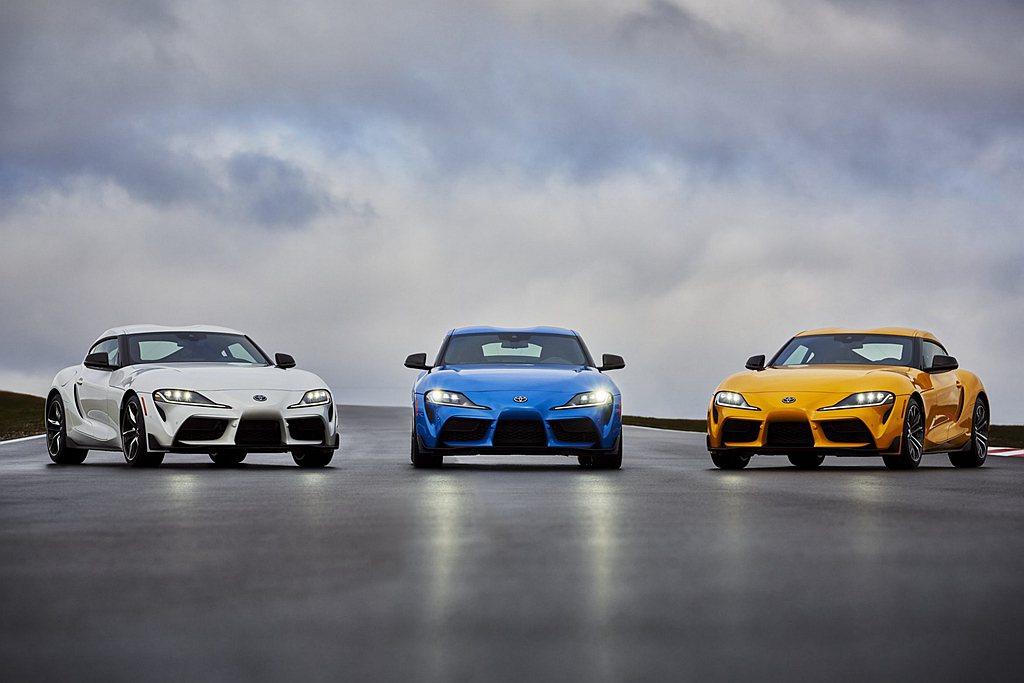 2021年式美規Toyota GR Supra增加2.0L四缸車型選項外,同時針...