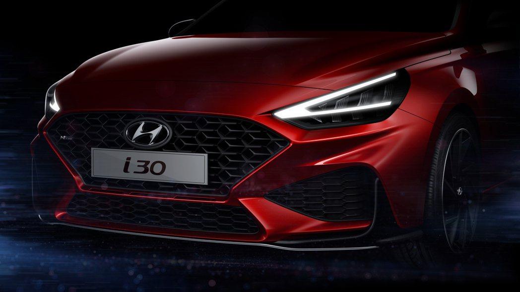 小改款Hyundai i30預告發表。 摘自Hyundai