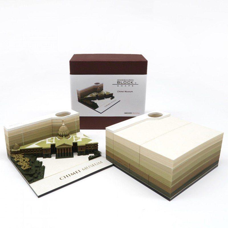 台灣限定的奇美博物館造型便條紙,每套2,980元。圖/取自奇美博物館官網
