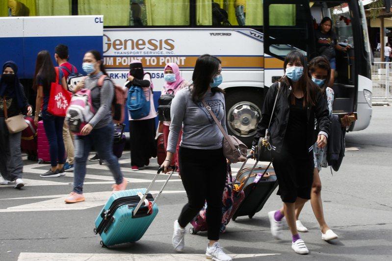 菲律賓上周出現3例新冠肺炎病例,且有1人死亡,菲國政府之後下令拒絕中國旅客入境。 (歐新社)