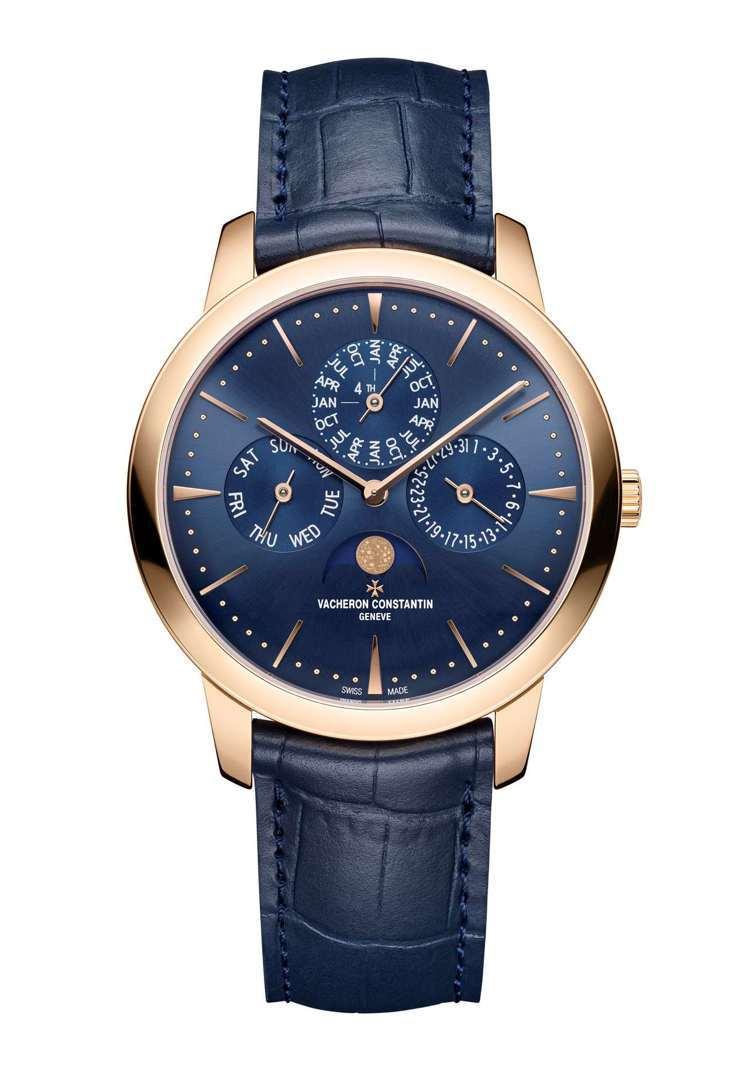 江詩丹頓,Patrimony系列萬年曆玫瑰金腕表,將為限定的專賣店限量款式,價格...