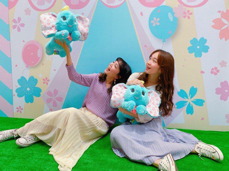 迪士尼櫻花季期間限定店高雄店限定,小飛象娃娃999元。圖/大魯閣草衙道提供