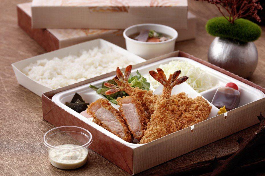 勝勢豬排推出5款不同主餐的便當,售價自200元起。圖/勝勢豬排提供