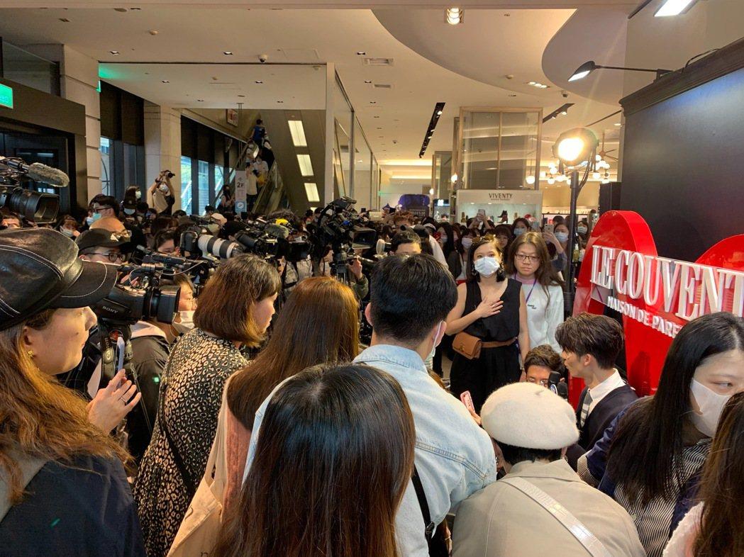 許光漢出席活動,粉絲擠爆現場。記者陳慧貞/攝影