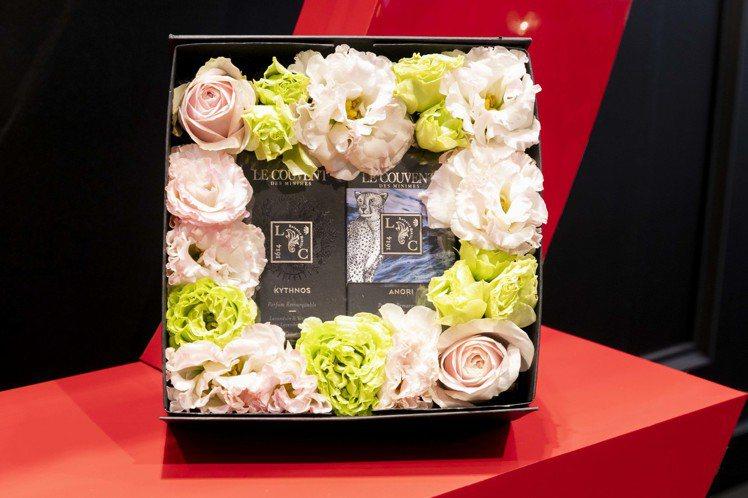 LE COUVENT洛蔻芳情人節預購限定鮮花禮盒,售價4,699元。圖/洛蔻芳提...