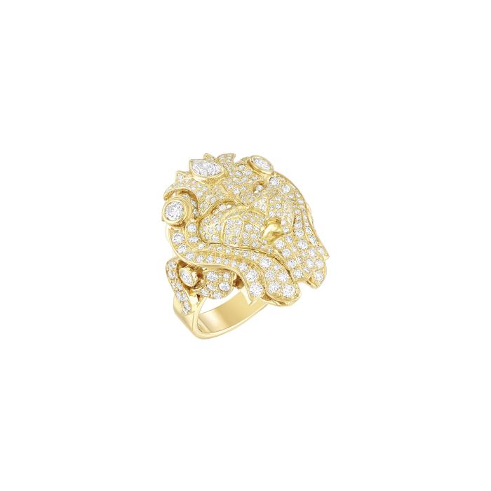 CHANEL,Lion Vénitien戒指:18K黃金,鑲嵌1顆重約0.23克...