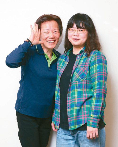 母女檔陳瑞蓉(左)與程惠卿。 記者林澔一╱攝影