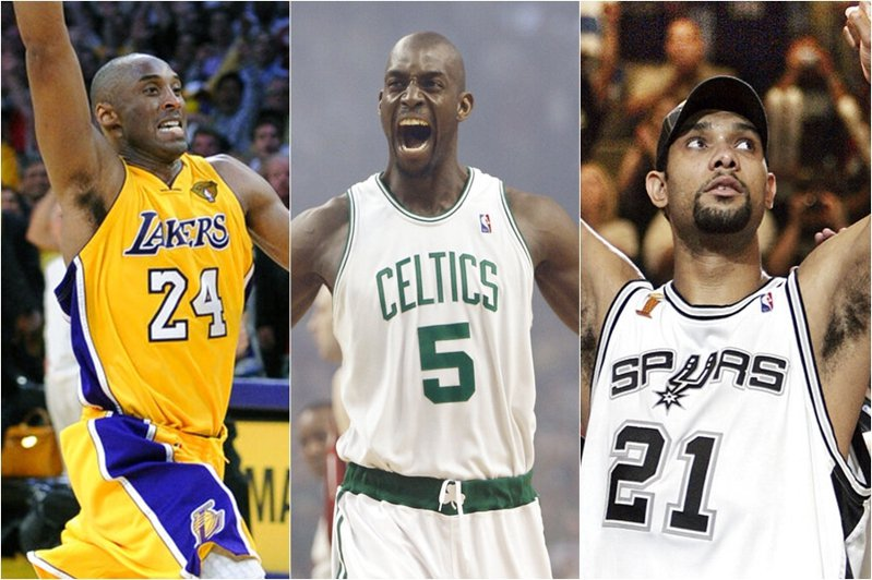 布萊恩、鄧肯、賈奈特合計拿下九次總冠軍,有望在今年一齊步入名人堂。 美聯社