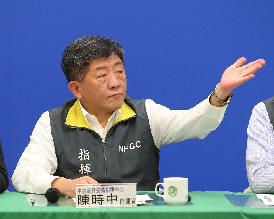 衛福部長陳時中。 聯合報系資料照片/記者林澔一攝影