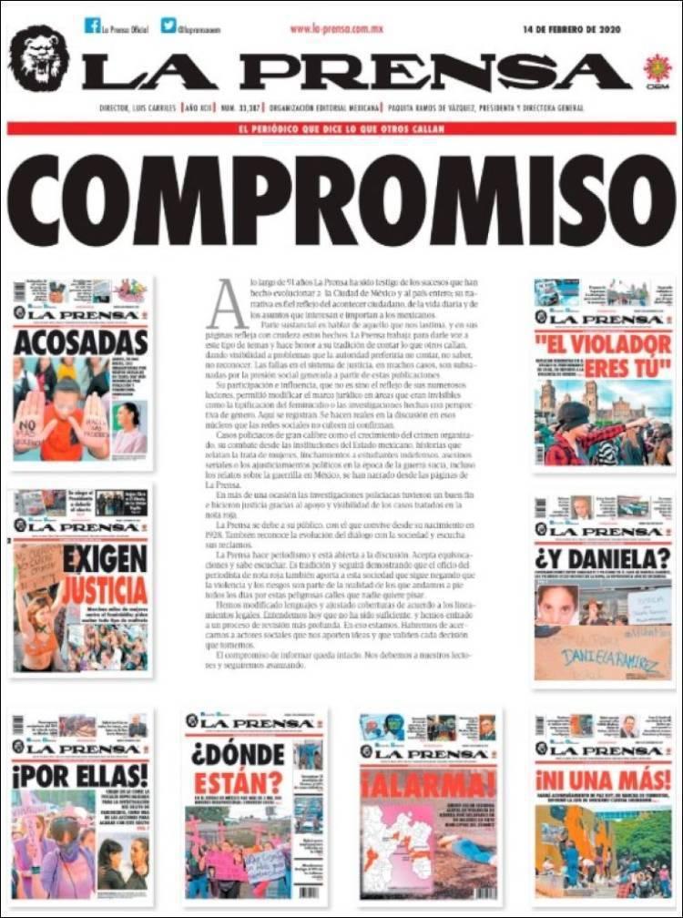 面對墨西哥女權團體的「情人節起義」,千夫所指的《報刊》動用了所有人脈,2月14日...