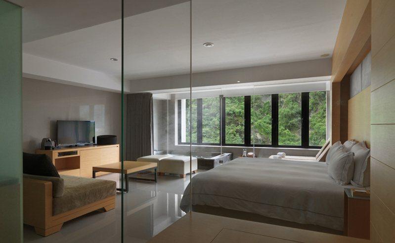 烏來璞石麗緻住房多外海外客,目前暫停營業一個月。圖/摘自飯店官網