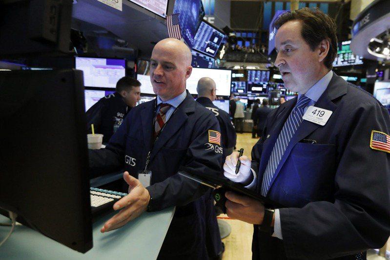 美股周線連兩周收高。美聯社