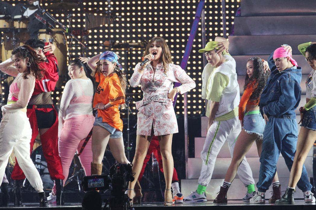 A-Lin化身唱跳歌姬,唱跳掀起全場高潮。記者許正宏/攝影