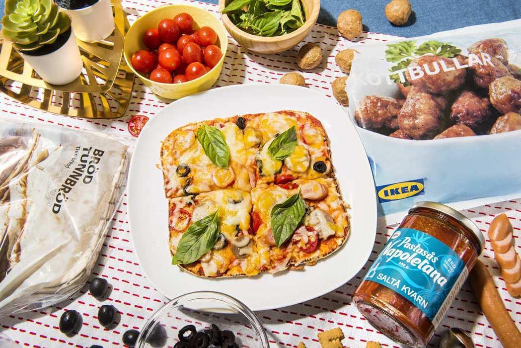 利用BRÖD TUNNBRÖD瑞典捲餅,就能輕鬆完成美味的瑞典肉丸番茄PIZZA...