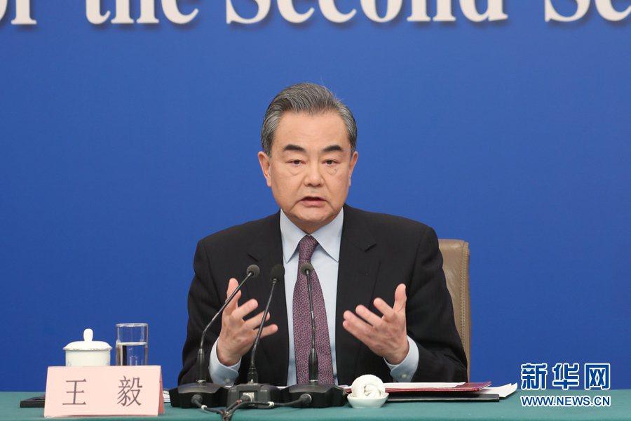 大陸國務委員兼外長王毅。新華社