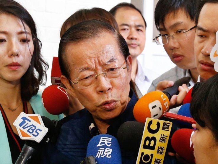 駐日代表謝長廷。報系資料照片。