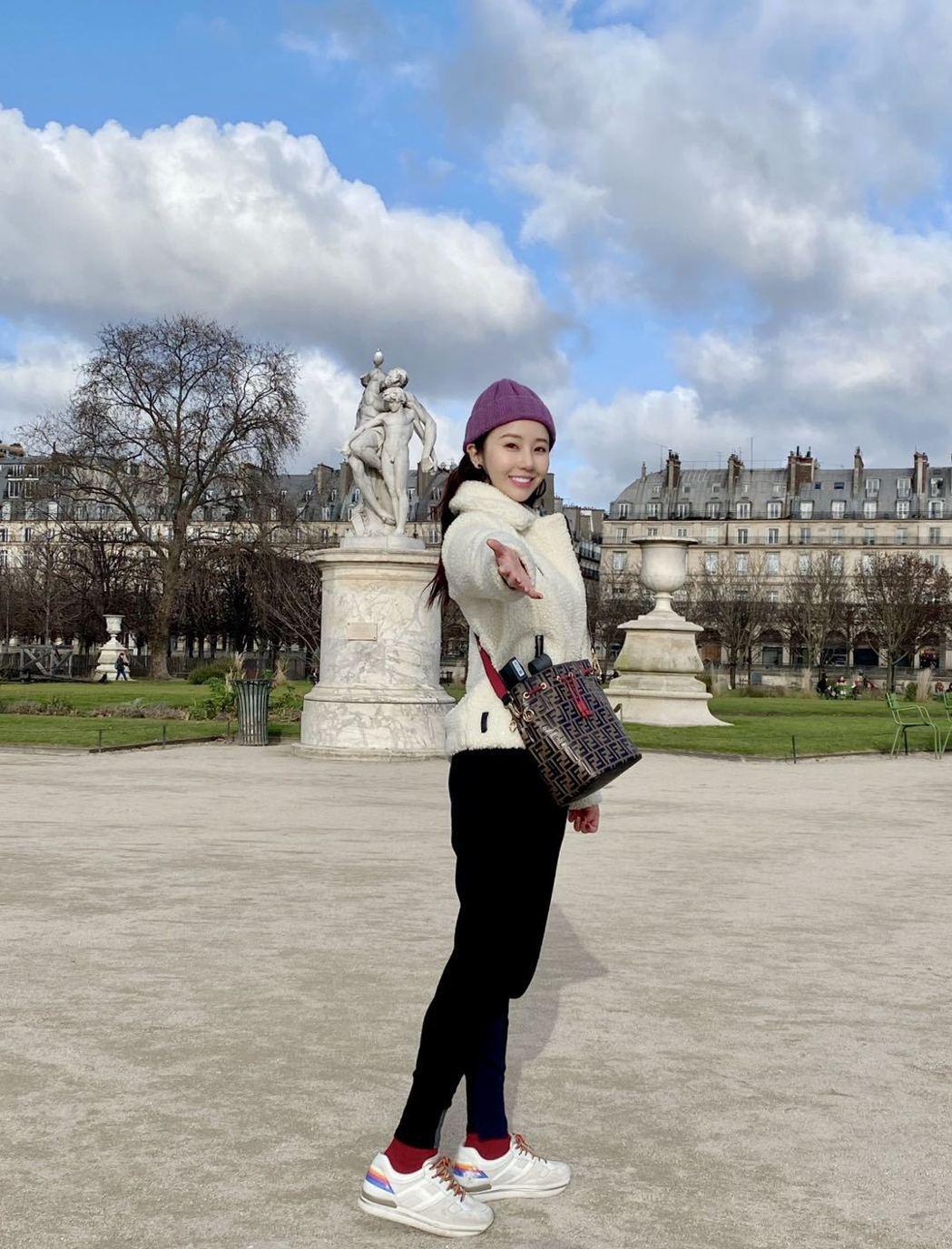 程茉趁拍戲結束空檔,到歐洲暢遊14天。圖/艾迪昇傳播提供