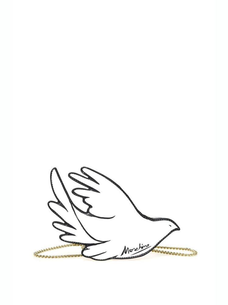 和平鴿鍊帶包,38,800元。圖/MOSCHINO提供