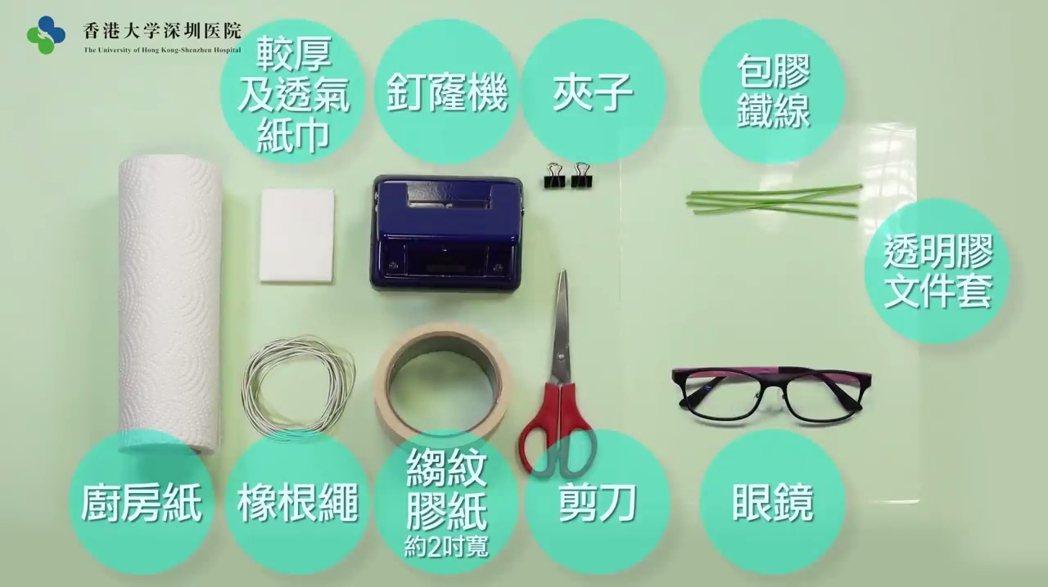 新冠肺炎持續擴散,香港口罩短缺,香港醫教界聯手評估後,教導大眾利用市面日常材料,...