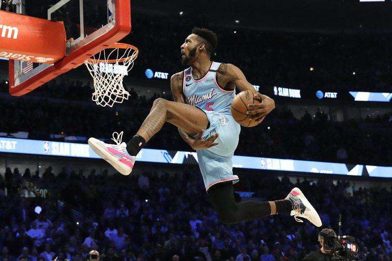 灌籃大賽收視創三年來新高,圖為冠軍熱火隊瓊斯。 美聯社