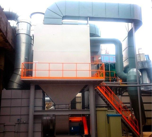台灣積層工業引進最新型二級濃縮閥門旋轉式蓄熱焚燒爐。 台灣積層工業/提供
