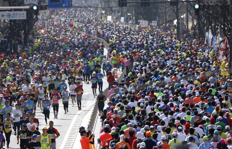 東京馬拉松規模恐限縮。 美聯社
