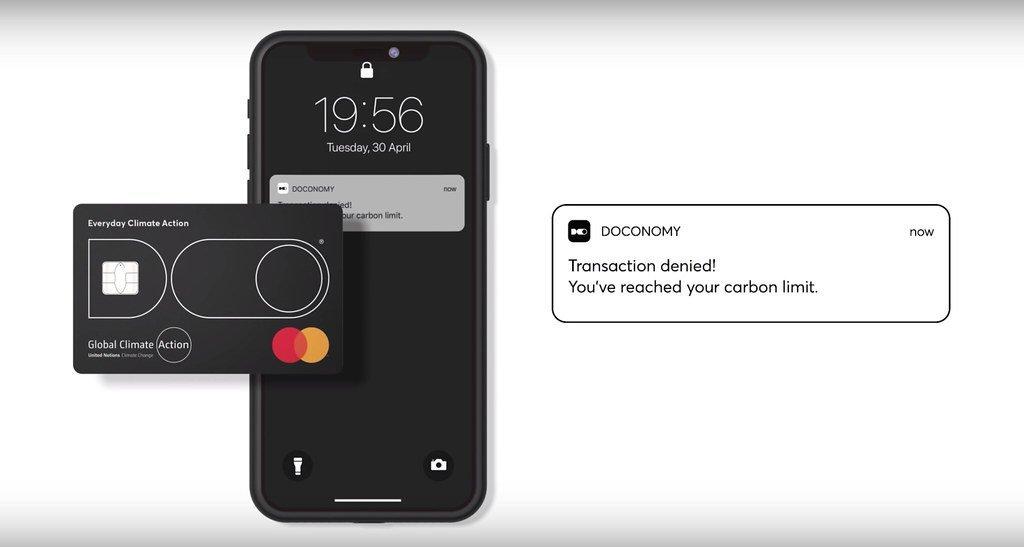 DO Black是一張連結個人消費與碳排資訊的信用卡,若當月消費達到人均碳排上限...