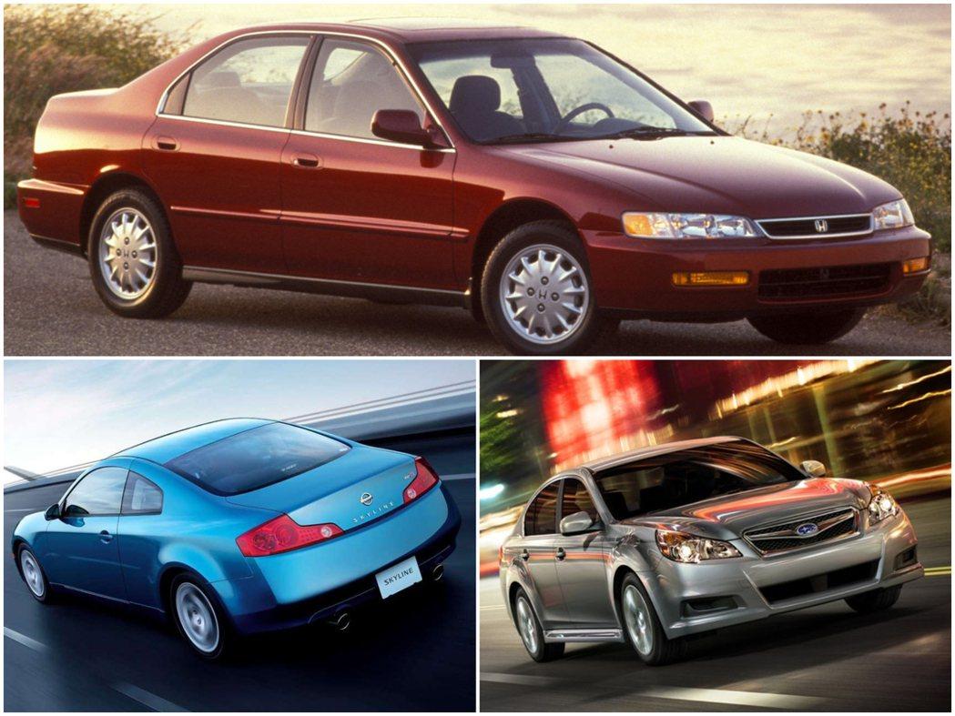 這些3種車款名聲都十分響亮,但在日本銷量卻持續下跌。 摘自各車廠