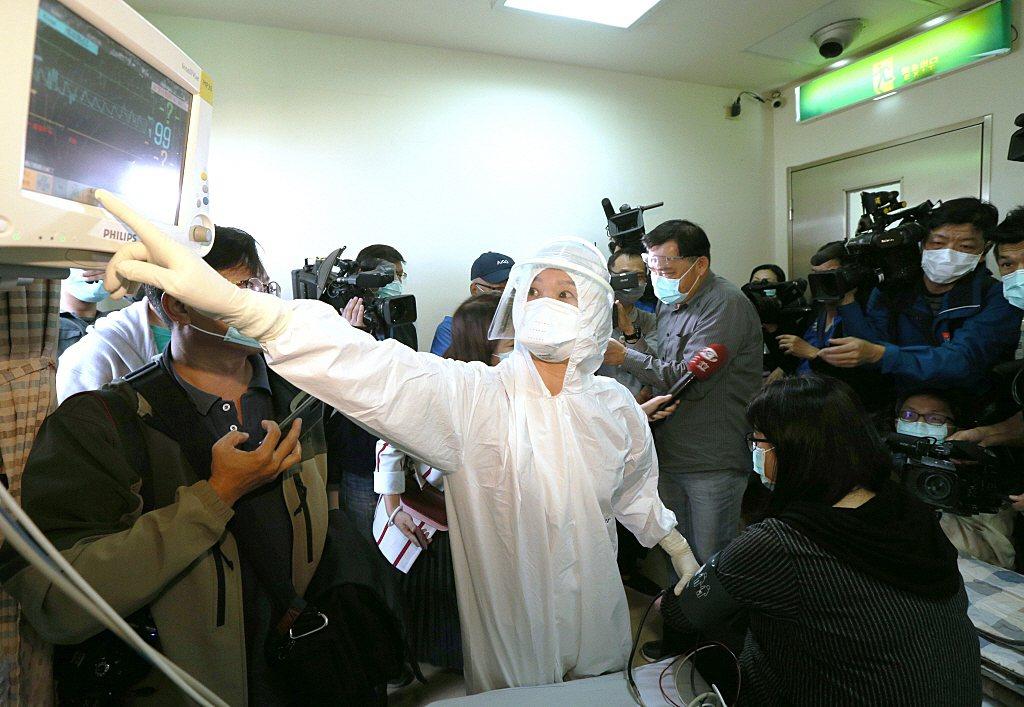 1月22日,高醫進行防疫演練。 圖/聯合報系資料照