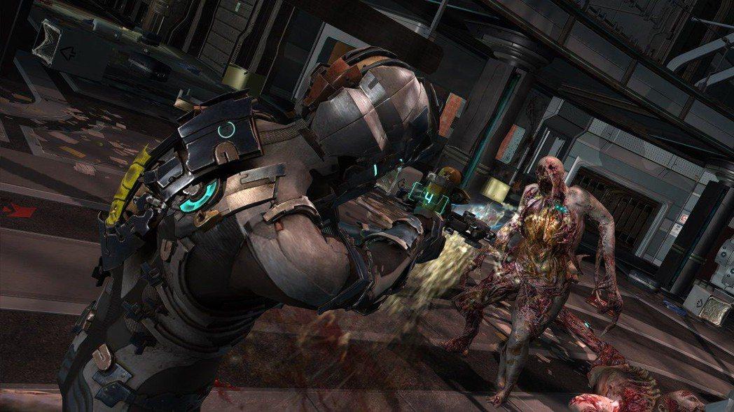 《絕命異次元二》把血條直接「裝」在角色背上,用敘事取代HUD。來源:EA