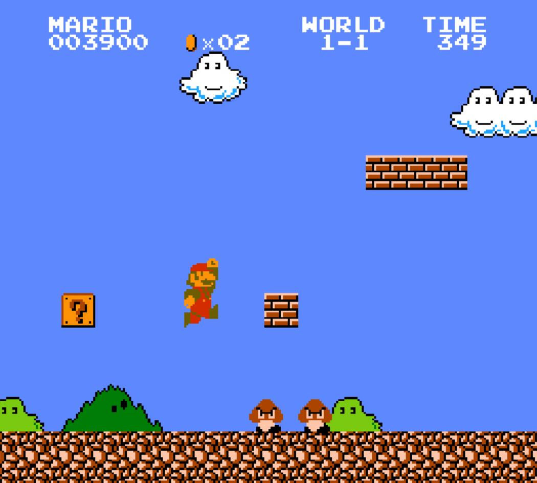 瑪利歐吞下蘑菇,等於多了一滴血。來源:任天堂