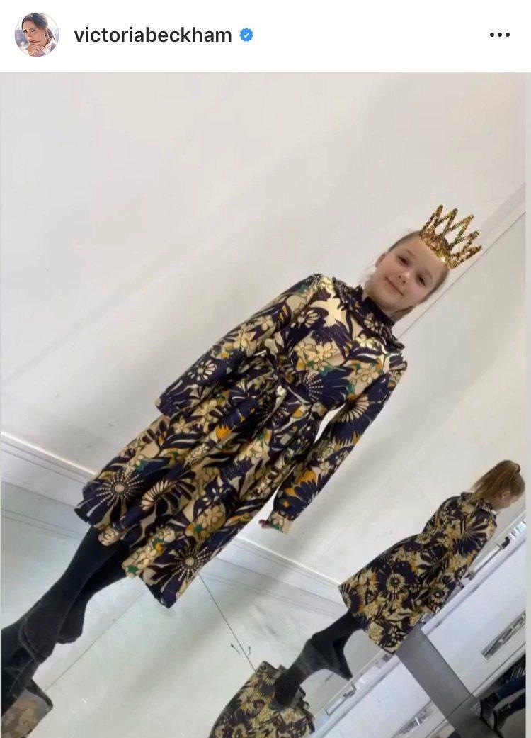 貝嫂得意在IG秀出女兒首次體驗高級訂製服的照片。圖/取自IG @victoria...