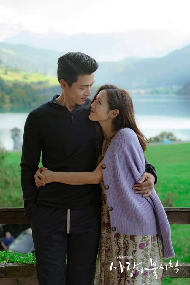 孫藝真環抱玄彬甜笑。圖/摘自tvN臉書