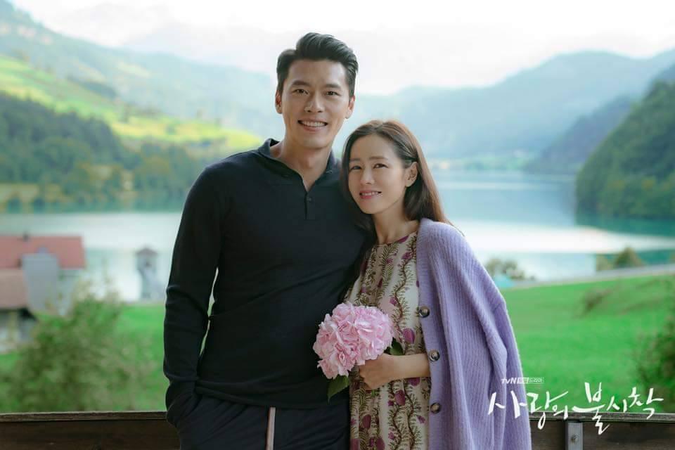孫藝真依偎在玄彬身旁。圖/摘自tvN臉書