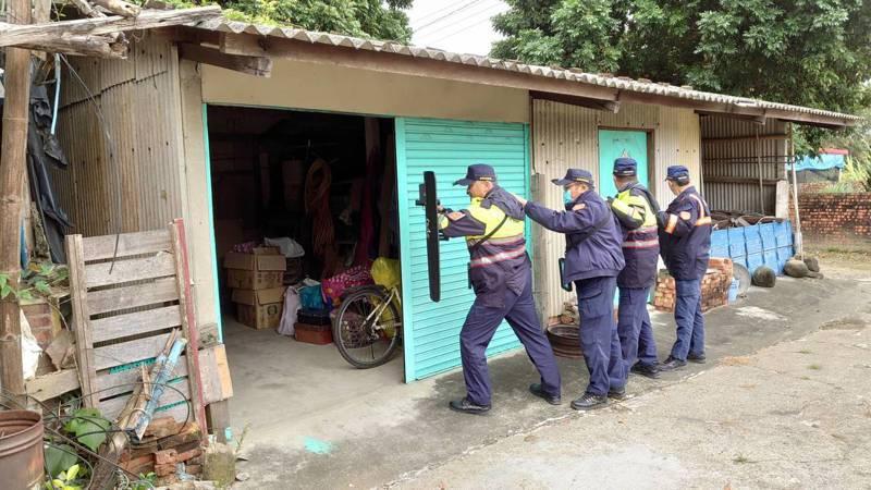 守護山區治安護農,白河警執行清山專案掃蕩打擊不法。圖/警方提供