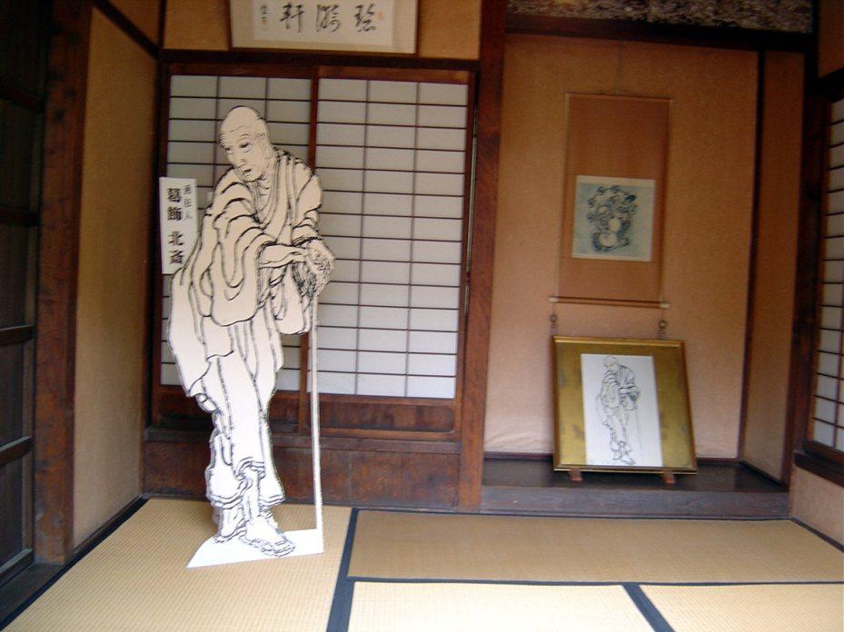 日本浮世繪大師葛飾北齋,曾四度到小布施作客,留下不少經典名作,這是他當年下榻的房間兼畫室。報系資料照。東京特派員陳世昌/攝影
