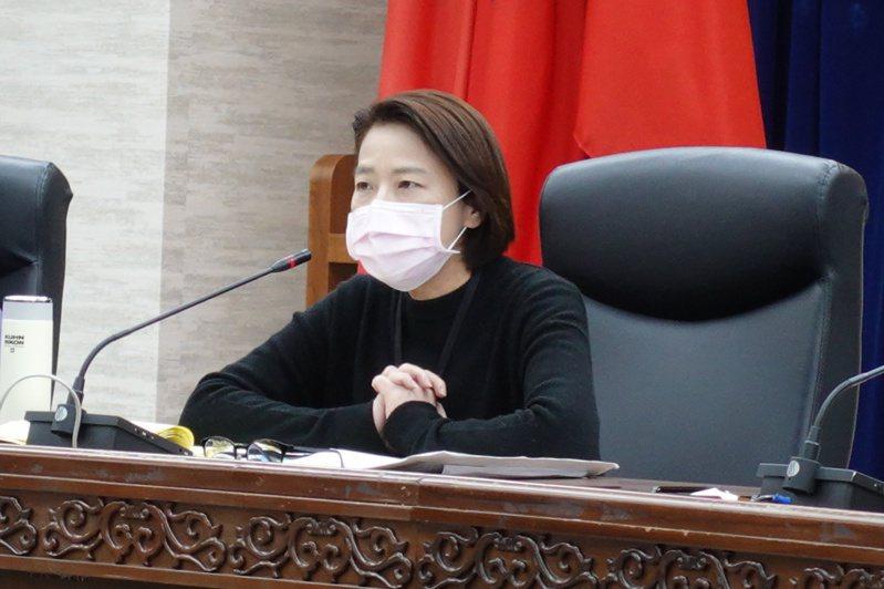 北市府昨針對新冠肺炎疫情召開應變小組會議,由副市長黃珊珊主持。記者邱瓊玉/攝影