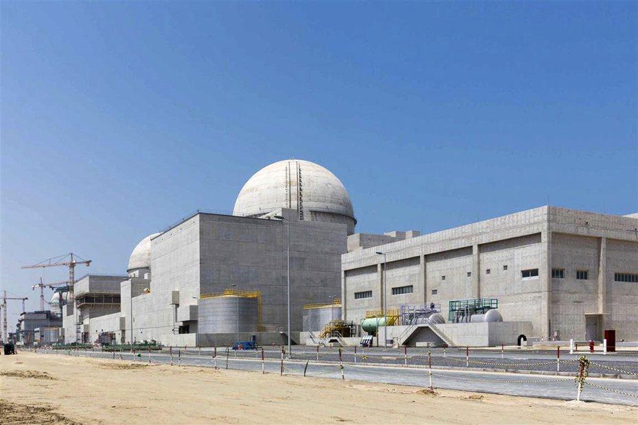 興建中的阿聯巴拉卡核電廠。(美聯社)