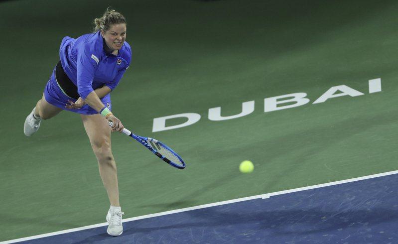 杜拜女網賽前球后克莉絲特斯復出首輪落敗。 美聯社